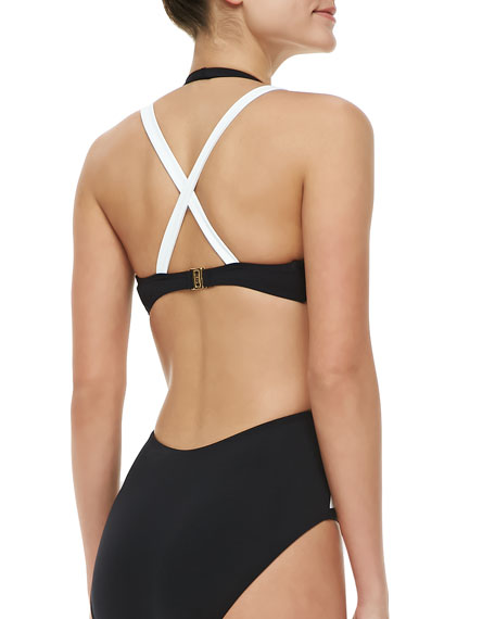 Zenith Origami Two-Tone One-Piece Swimsuit