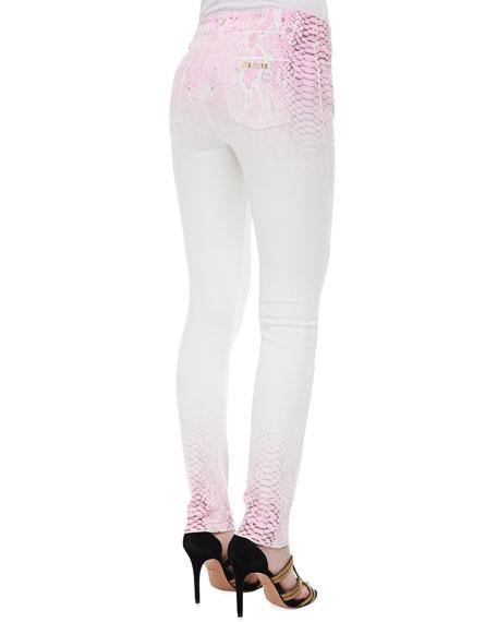 Python-Ombre Skinny Jeans