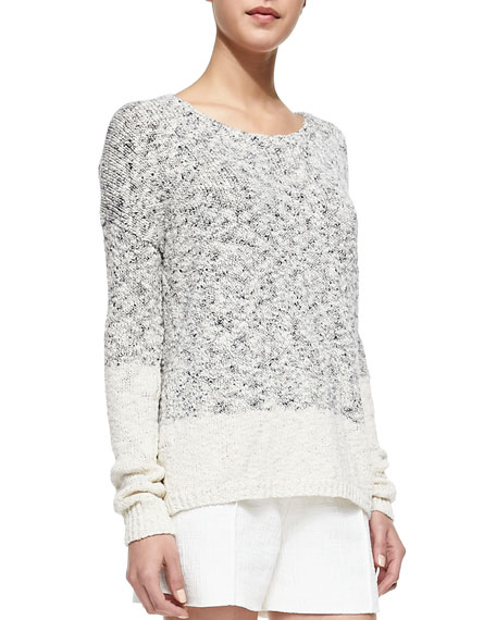 Marbled Blocked Knit Sweater