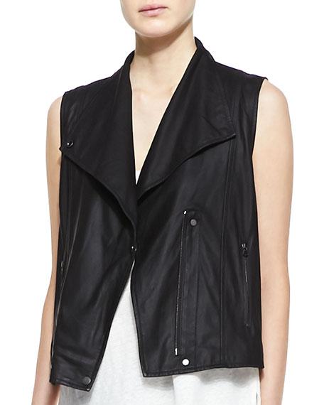 Paper Leather Zip Vest
