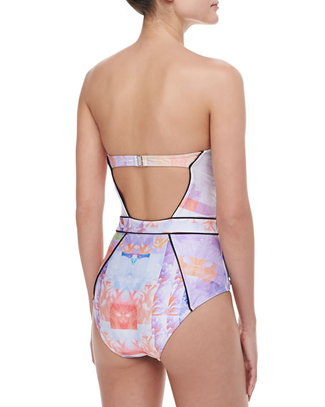 Floral Rise One-Piece Swimsuit