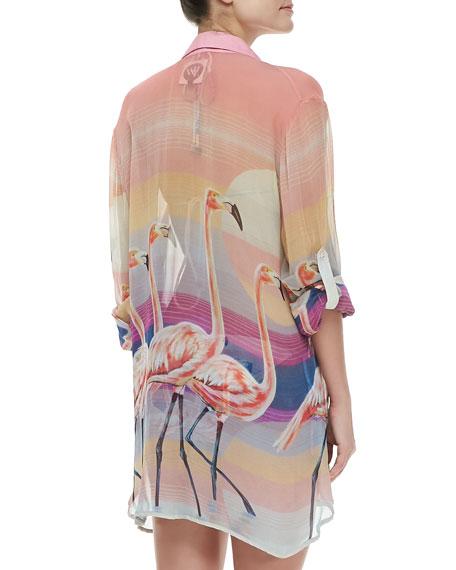 Flamingo Coverup Shirt