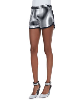 Diane von Furstenberg Tiffany Striped Silk Shorts