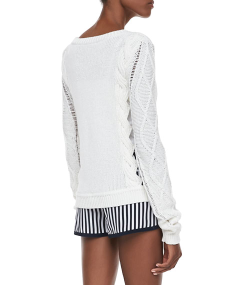 Knit Long-Sleeve Sweater