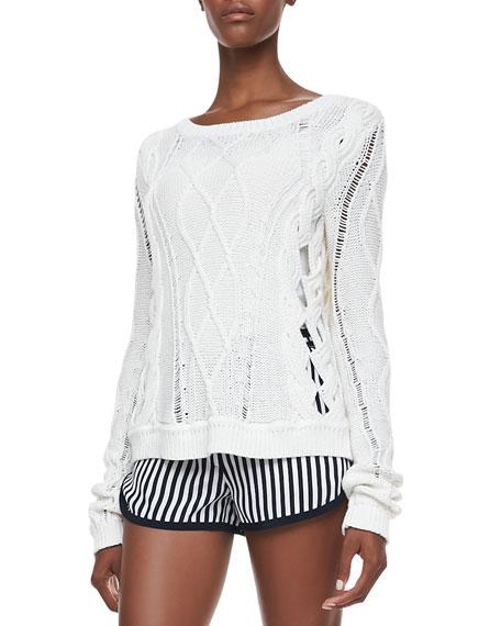 Knit Long-Sleeve Sweater