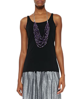 Eileen Fisher Silk Jersey Long Cami