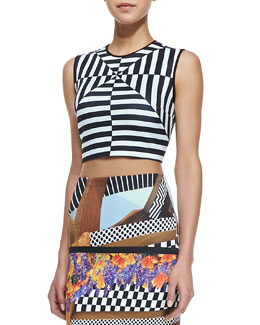 Clover Canyon Lautner Land Printed Crop Top