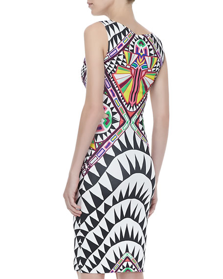 Side-Cutout Fitted Dress