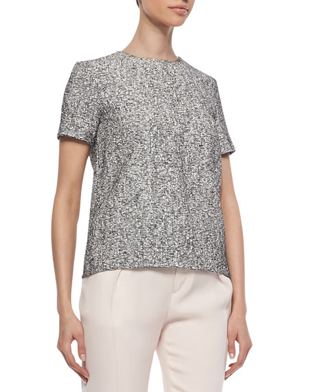 Oda Tweed-Front Combo Top