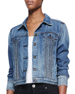 rag & bone/JEAN Bonnaz Loop-Panel Denim Jacket