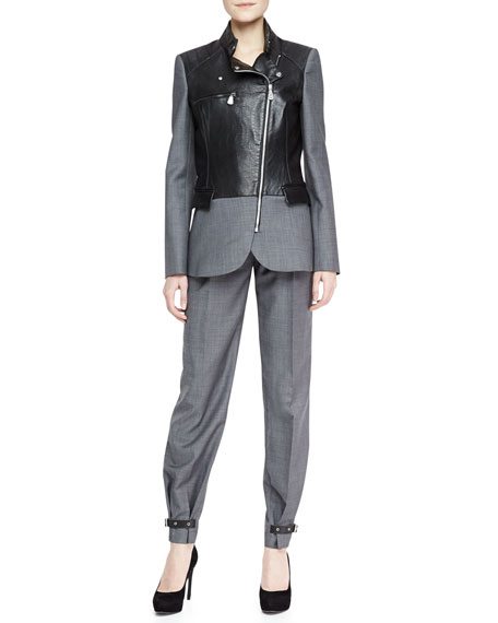 Belted Pleated Trousers, Urban Gray