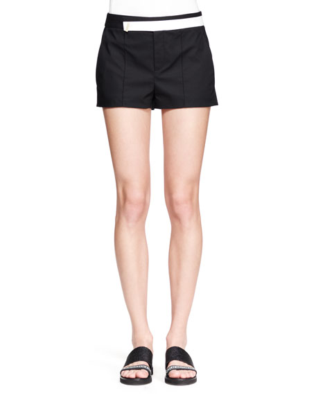 Bicolor Structured Poplin Shorts