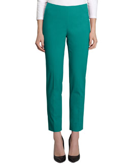 Lafayette 148 New York Stan Bi-Stretch Cropped Pants, Cove