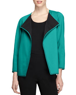 Lafayette 148 New York Fundamental Bi-Stretch Topper