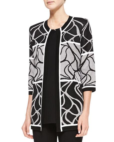 Multi-Design Open Jacket, Plus Size