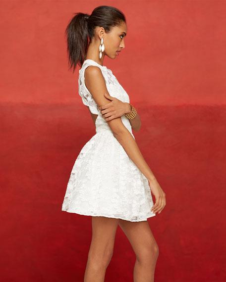 Vendela Cutout-Back Lace Dress
