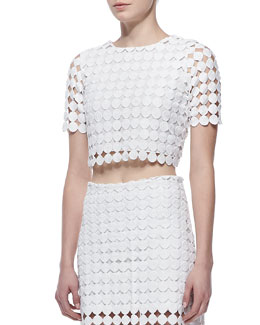 Alexis Lisette Crochet Cropped Top