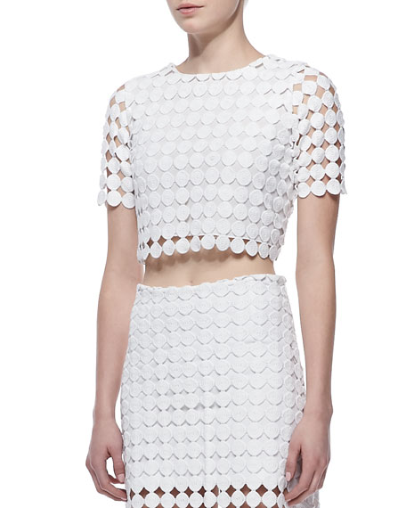 Lisette Crochet Cropped Top
