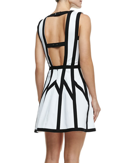 Graphic Spear Sleeveless Dress