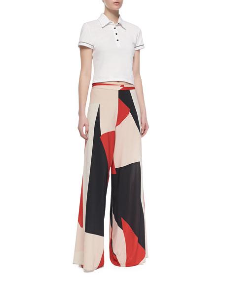 Colorblock Super-Flare Pants