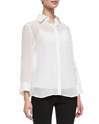 Alice + Olivia Piper See-Through Blouse