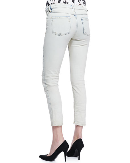 Terry Rip & Repair Slim Jeans, Clay