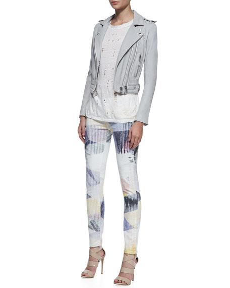 Amaya Prism-Print Slim Jeans