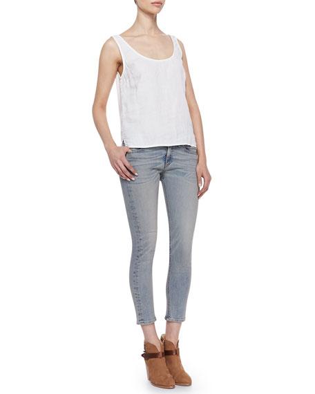 The Capri Skinny Denim Pants
