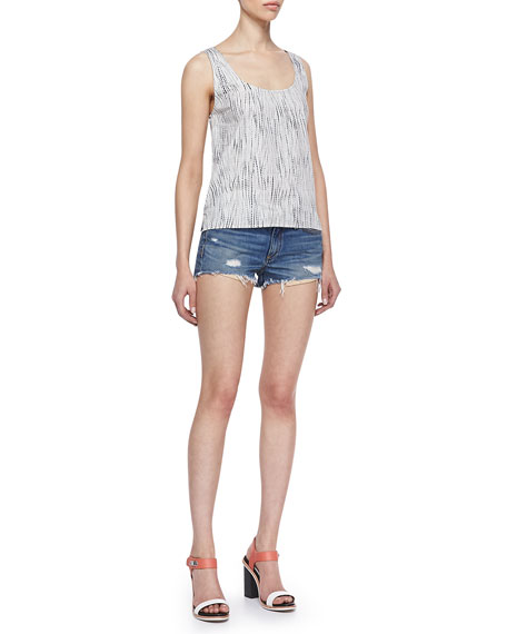 Mila Trestles Distressed Cutoff Denim Shorts