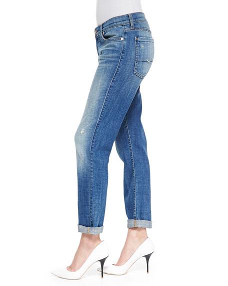 Josefina Slim Boyfriend Jeans, Bright Light Broken Twill