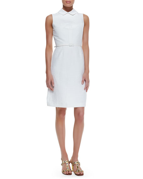 Kimberly Belted Dress With Detachable Collar