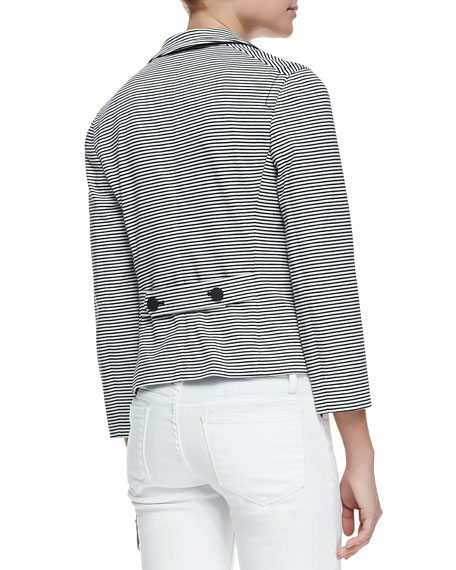 Colleen Striped Cotton Single-Button Jacket