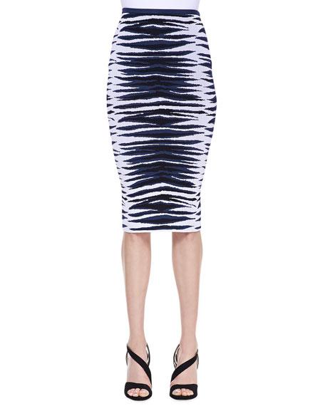 Ikat Jacquard Midi Skirt