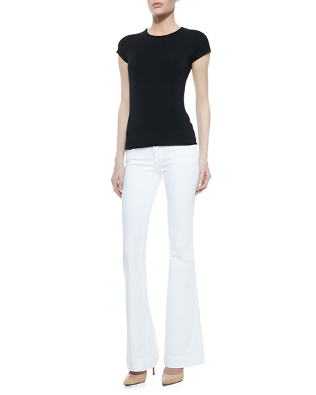 Love Story Flared Jeans, Blanc