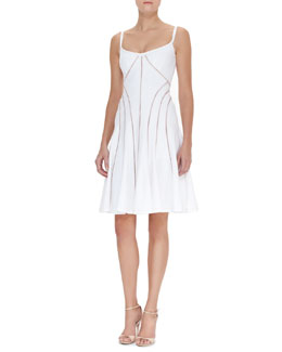 Nanette Lepore Sheer Bliss Cutout Swing Dress