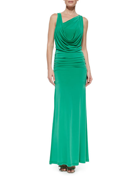 Nicole Open-Back Dress, Petite