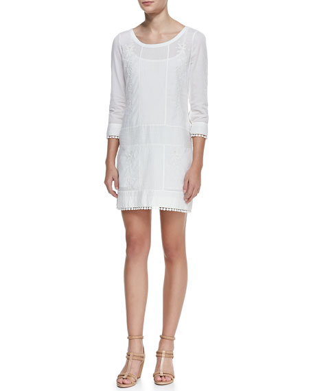 Pam & Gela Courtney Embroidered Cotton Dress
