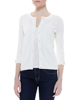 kate spade new york somerset button-down cardigan, cream