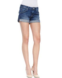 Hudson Hampton Hackney Denim Rolled Shorts