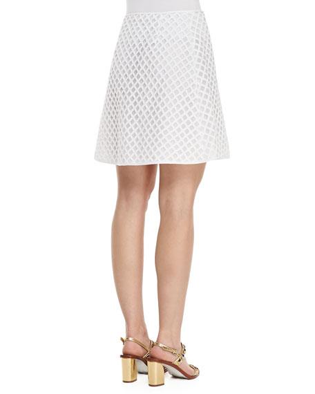 Alaina A-Line Lattice Skirt