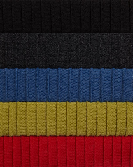 Ottoman Knit 3/4-Sleeve Tunic, Charcoal