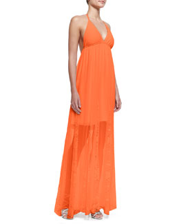 Alice + Olivia McBain Lace-Stripe Maxi Dress
