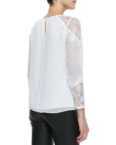 Danyelle Lace/Silk Blouse