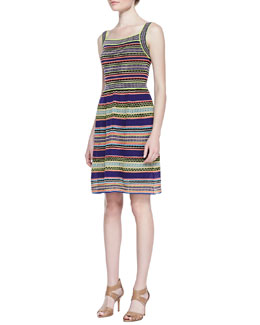 M. Missoni Ribbon-Stripe Knit Tank Dress