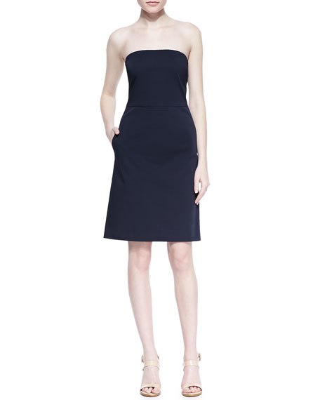 STRAPLESS_FINE TWILL dress