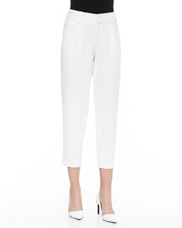 Alice + Olivia Arthur Knit Lined Pants, White