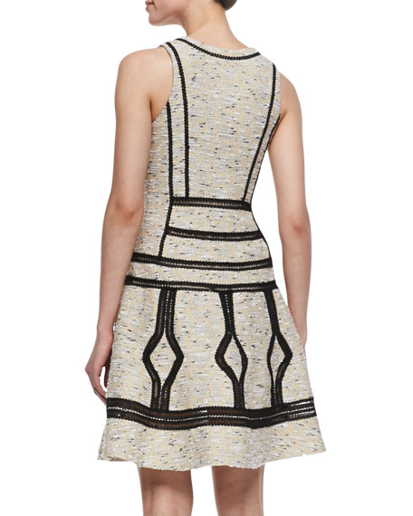 Margot Sleeveless Woven Dress, Desert Sand
