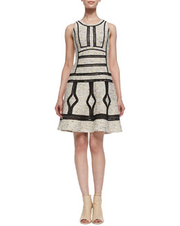 Diane von Furstenberg Margot Sleeveless Woven Dress, Desert Sand