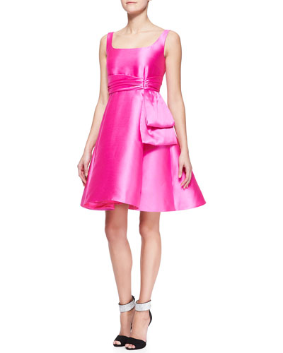 kate spade new york sleeveless fit-and-flare dress with bow detail