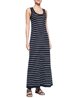 Vince Striped Slub Sleeveless Maxi Dress, Coastal